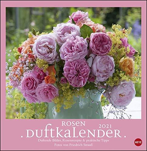 Rosenduftkalender 2021 - Duftkalender mit Monatskalendarium und Spiralbindung - Format 32 x 33 cm