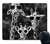 Smooffly Mouse Pad Personalized Giraffe, Customized Rectangle Non-Slip Rubber, Funy Giraffe Wearing Sunglasses Gaming Mouse Pad mice gaming May, 2021