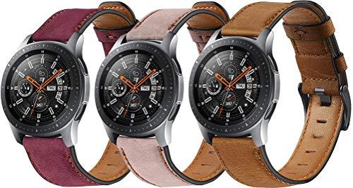 Reloj de Correa Cuero 22mm, Hombre Repuesto La Correa (22mm, 3PCS C)