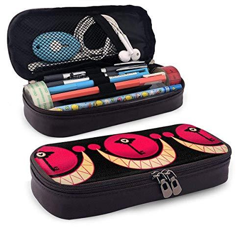 Angel Dust Hazbin Hotel Pencil Case of Big Storage Capactiy,Mult Function Double Zipper Pen Bag Box for Kids,Teen,Student