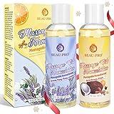 Massageöl-Set - 100% Naturrein Massage Öl mit Angenehmen Düften, Sinnliches Massageöl für...