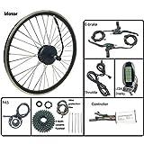 LiRongPing Motor de la Rueda Trasera 250W eléctricos de la conversión de la Bicicleta Kit 48V con KT LCD6 Display Bicicleta eléctrica, Parte e de la Bici,24inch LCD Sets
