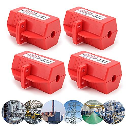 Bloqueo del cable de alimentación, seguro de usar Bloqueo de enchufe de bloqueo de 4 piezas para alimentación de TV para aire acondicionado