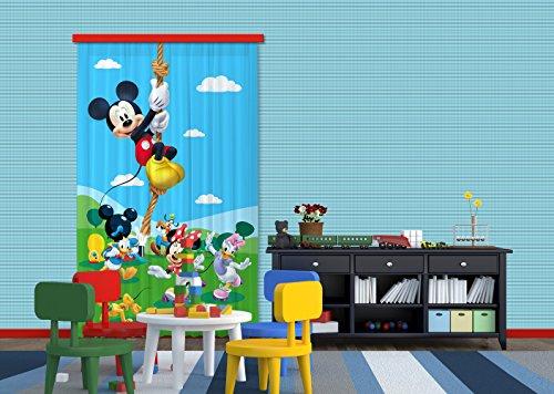 AG Design FCC L 4106 Voilage/Rideau pour Chambre d'enfant Motif Disney Mickey Mouse