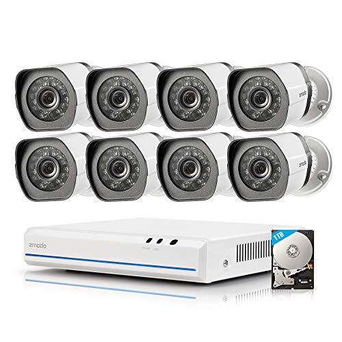 Zmodo ZS-1004-B 8CH HDMI NVR Simplified PoE Surveillance Video Security Camera System, Black, 8 Cam Kit