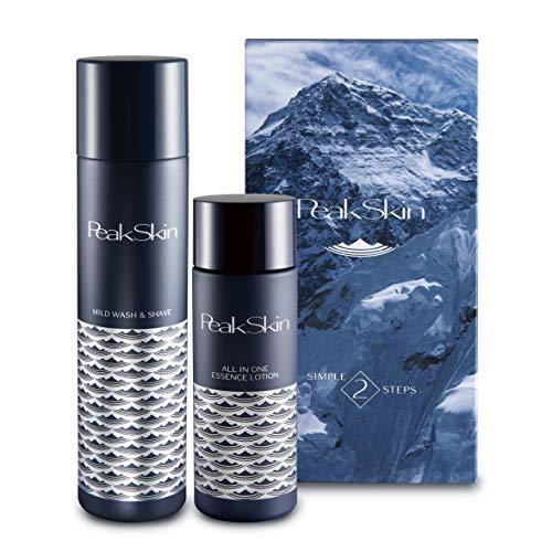 ピークスキン PeakSkin メンズ 男性 スキンケア 炭酸+炭の濃密泡洗顔&シェイブ 120g +オールインワン美...
