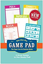 Knock Knock On-the-Go Game Pad 2, Travel Activity Book Notepad, 6 x 9-inches