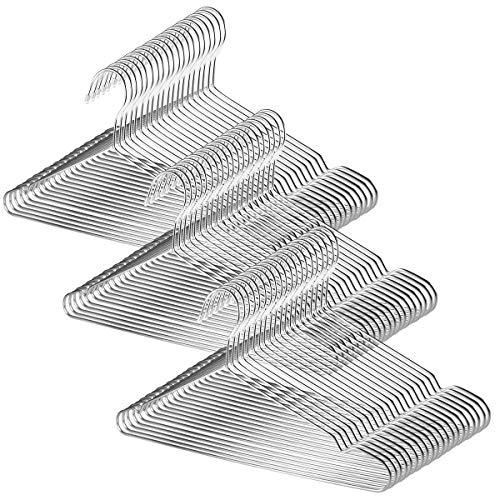 TUXWANG 18/10 Perchas de Acero Inoxidable 60 Piezas un Conjunto Perchas de...