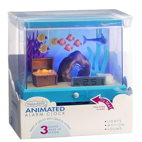 Sleepyhead Animated Alarm Clock for Kids — Tropical Reef — Fun Way to Teach Kids Responsibility