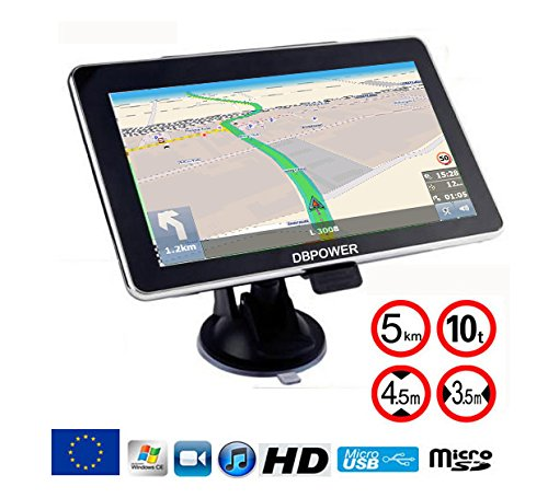 avis gps pour camping car professionnel DBPower® Navigator7PousesGPS Europe2020 Special Truck Track Version RV…