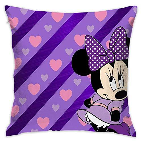 Funda de almohada decorativa Minnie Purple Love de 45,7 x 45,7 cm