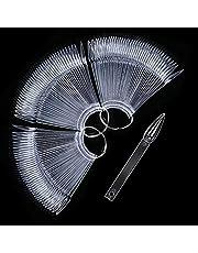 120 expositores de uñas postizas de color transparente para esmalte de uñas, expositor, forma de palillos prácticos, para manicura