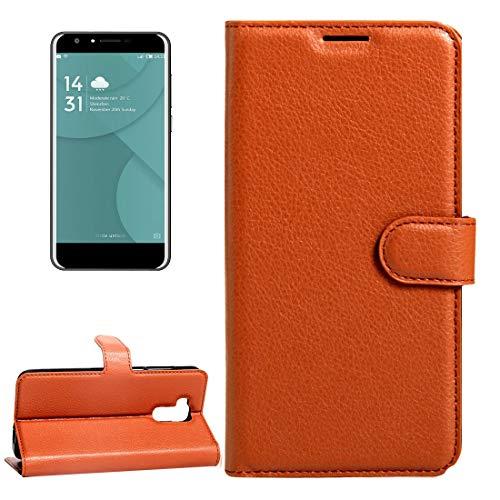 Fundas para teléfono móvil Doogee Y6 (MPH2412) Litchi Texture Horizontal Flip Funda de cuero con hebilla magnética y soporte y ranuras for tarjetas y billetera Estuches para teléfonos celulares