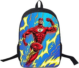 Mochilas,Mochilas de la Serie Flash Man,Mochilas para Estudiantes con Estampado Lightning,Resistentes al Desgaste y cómodas 16 Pulgadas.Acepte personalización