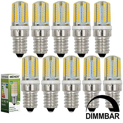 MENGS 10 Stück Dimmbar E14 LED Lampe 3W AC 220-240V Warmweiß 3000K 64x3014 SMD Mit Silikon Mantel