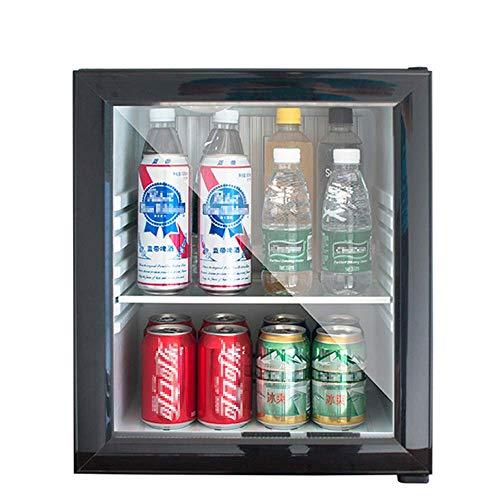 Beverage Cooler/Refrigerator,Mini Fridge Compact Freezer, 30Db,5 To 15 °C, LED Lighting,Energy Class A+,Glass Door Black Frame - Living Room, Mini Bar, Refrigerator, 30 L