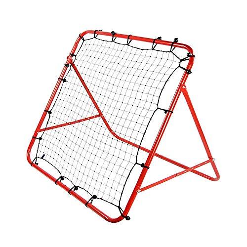 PQXOER Fußballtore Roter Hinterhof-Fußball-Netz-Quadrat-Kinderfußball-Ziel-Rahmen Langlebiges und Flexibles Studentenfußball-Ziel für Kinderjungen und -mädchen Garten Fußballtor