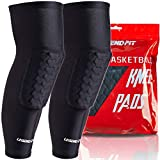 Legendfit Basketball Knee Pads for Kids Youth Adults Protective Padded Compression Long Leg Sleeves Sports Gear for Volleyball Baseball Football Wrestling 1 Pair