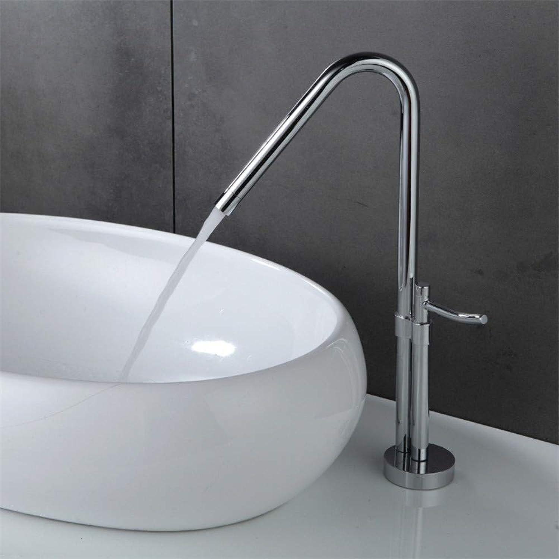 Floungey BadinsGrößetionen Waschtischarmaturen küchenarmaturen Messing über Aufsatzbecken Becken Heier Und Kalter Wasserhahn Hochwertiger Drehbarer Küchenarmatur Mit Fu
