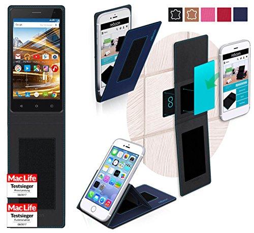 reboon Hülle für Archos 50d Neon Tasche Cover Case Bumper | Blau | Testsieger