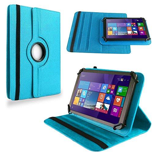 NAUC Tasche für TrekStor SurfTab Wintron 7.0 Hülle Tablet Schutzhülle Cover Hülle 360°, Farben:Türkis