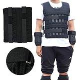 N / A Gewichtsweste, 3kg/15kg/35kg Verstellbar Krafttraining Weight Vest, Gewicht Warnwesten für Gewicht Training Krafttraining Übung (35KG)