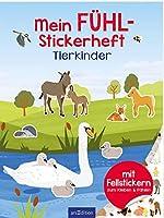 Mein Fuehl-Stickerheft - Tierkinder: Mit Fellstickern zum Kleben & Fuehlen