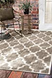 nuLOOM Gina Moroccan Outdoor Area Rug, 8' Square, Taupe