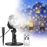 Proiettore Luci LED Natale con telecomando NACATIN Luci di Natale a LED Luci da interno e esterno IP65 per la festa di Natale (Proiettore Luci) (Proiettore Luci) (Led natale)
