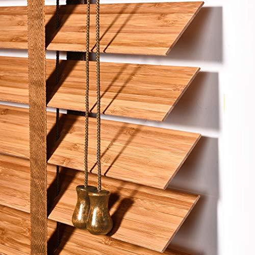 KDDFN Bambusrollo Holzjalousien,Büro Fensterrollos,Erhältlich in 4 Farben und Mehreren Größen,Anpassbare Jalousie