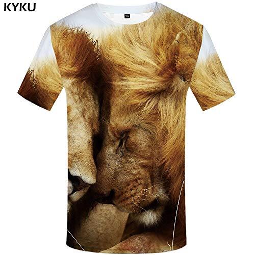 YUNDONGXIENV 3D Tshirt Animal T-Shirt Hommes Aigle T-Shirts Vêtements Décontractés T-Shirts Féroces 3D Tshirt Imprimé Vêtements pour Hommes