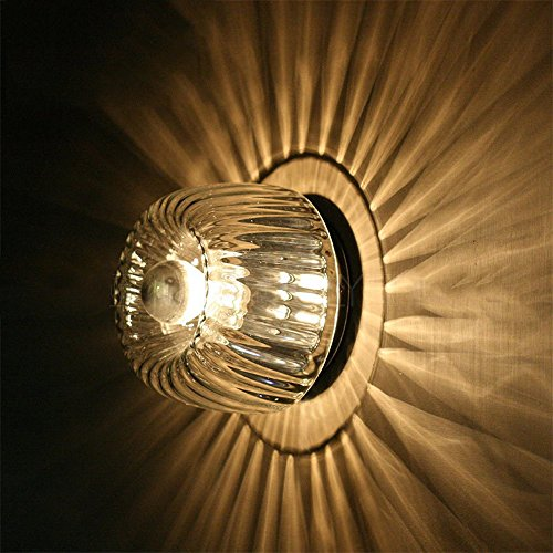 Moderne Minimaliste Simple Petit Soleil Lampe Murale En Verre Créative Allée Chambre Escaliers Petit Soleil Fer Applique Murale