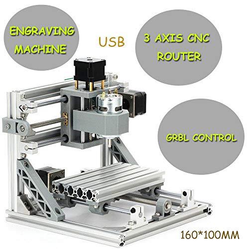 oukaning 3assi bricolage CNC 1610macchina di incisione CNC PCB Fresa legno Router per DIY Principiante