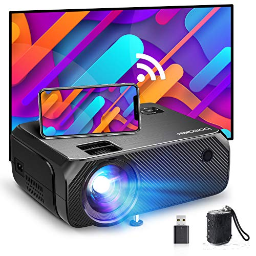 Bomaker Mini Beamer WiFi, 6000 Heimkino Beamer, Native 720P Full HD 300