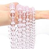 Cuentas de Piedra Natural de Vidrio Rosado Liso Redondo Perla espaciadora Suelta para la fabricación de Joyas (Color : Pink, Item Diameter : 8mm-45pcs)