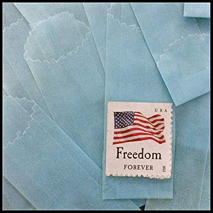 Vellum Glassine Stamp Wax Paper Envelope Bags, Colors & Designs, Medium, 25mm/27mm (Blue, 600 Bags)