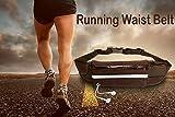 Adofo Running Belt Waist Pouch for Men + Women, Holds Smart Phones +