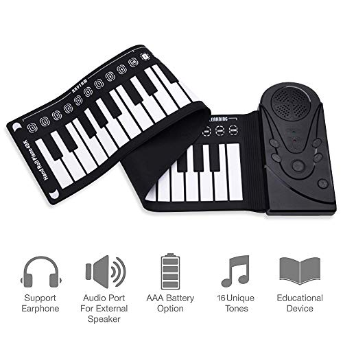 49 Keys Foldable Roll Up Keyboard Piano for Kids Built in Speaker Electric Digital Music Piano Toy