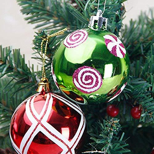 Árbol de Navidad chucherías de Navidad decoración de bolas conjunto de adorno for árboles de Navidad, guirnaldas de los regalos del árbol de Navidad 6PC inastillable Chucherías colgantes del partido d