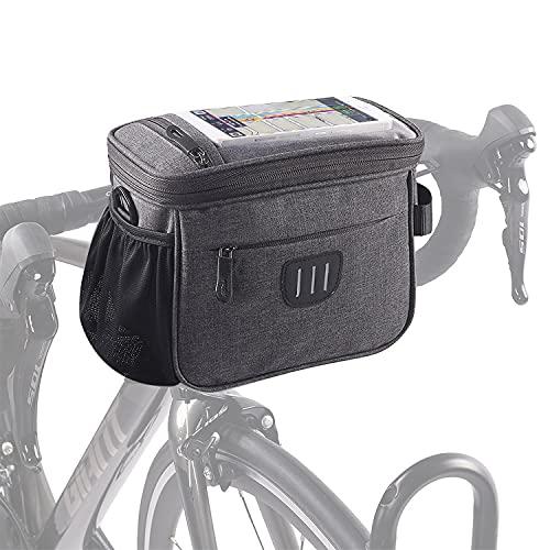 Panier Vélo,Velo,Guidon Velo,Sacoche Velo,Panier Avant Velo,Sacoche Vtt,Sacoche Telephone velo,Sacoche Guidon,Sacoche De Guidon Vélo,étanche,Grande capacité,Convient à tous les types de vélos