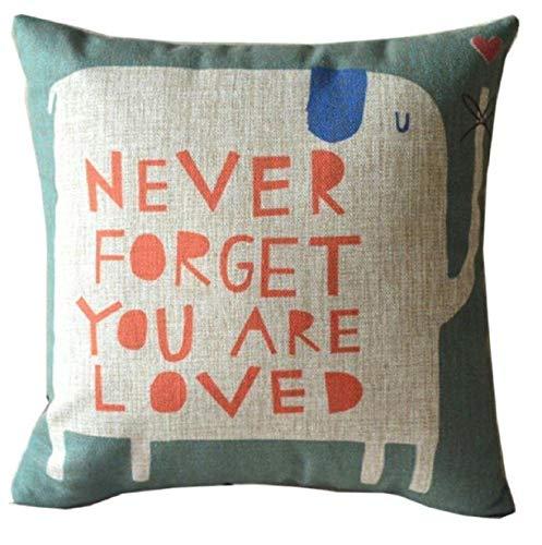 Vovotrade - Federa per cuscino in lino, 45 cm x 45 cm