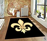 """Champion Rugs French European Formal Traditional Fleur De Lis Area Rug for Living Room (5' 3"""" X 7' 5"""")"""