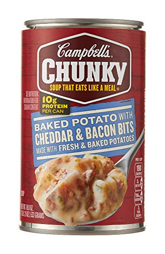Campbell's Chunky Soup, Baked Potato with Cheddar & Bacon Bits, 18.8 oz