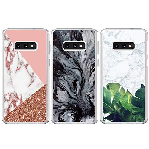 3x Funda para Samsung Galaxy S10e, WINSHINE Carcasa Silicona Transparente Protector TPU Airbag Anti-Choque Ultra-Delgado Anti-arañazos Case Teléfono Caso Caja Samsung S10e, Canica