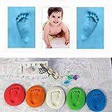 Único infantil del bebé DIY del aire de secado Arcillas buenos juguetes del regalo La Huella Huella suave arcilla especial para bebés Educación Craft (blanco)