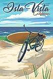 Isla Vista, California - Beach Cruiser on Beach 95885 (9x12 Art Print, Wall Decor Travel Poster)