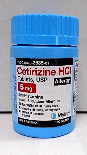 Mylan Cetirizine 5mg Tablets 100ct (Comapre to Zyrtec)