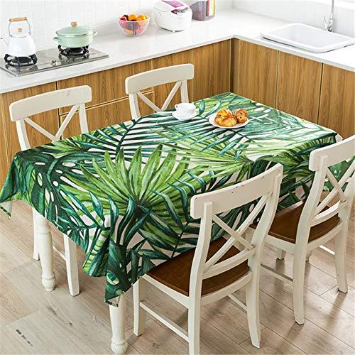 XXDD Mantel de Planta Tropical Mantel Impermeable Mesa de Comedor y Silla Mantel de algodón Cubierta de Mesa de Comedor en casa decoración A3 140x180cm