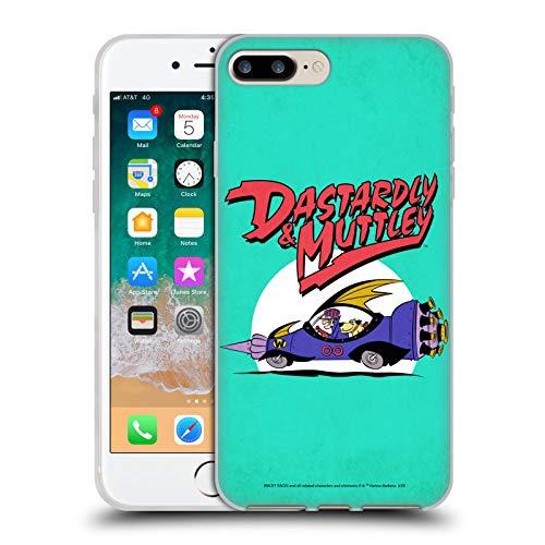 Head Case Designs Licenza Ufficiale Wacky Races Automobile Classico Cover in Morbido Gel Compatibile con Apple iPhone 7 Plus/iPhone 8 Plus