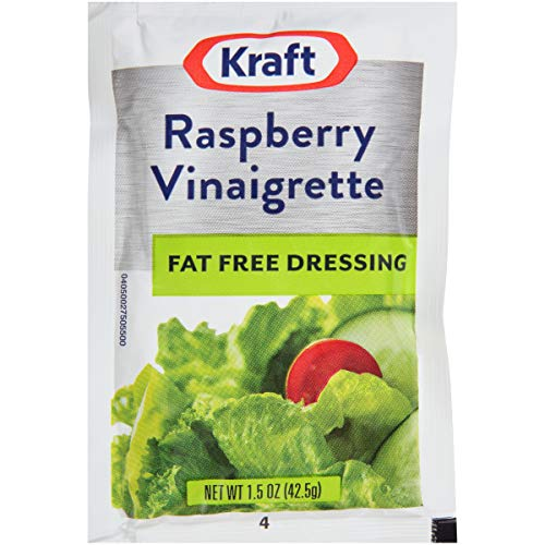 Kraft Fat Free Raspberry Vinaigrette Salad Dressing Single Serve Packet...